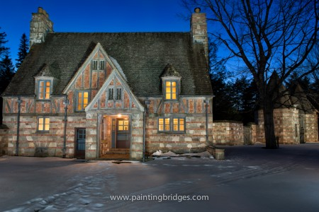 Brown Mountain Gatehouse Light Painting Acadia National Park
